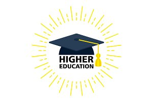 higher education color logo