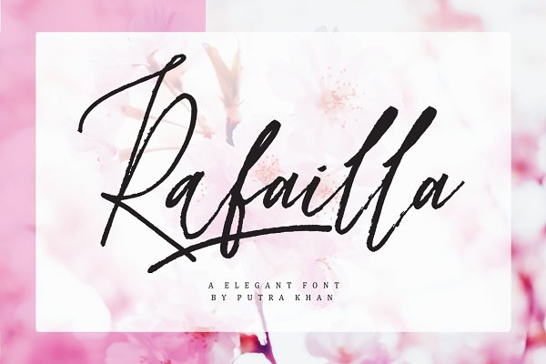 Script Fonts: Putra Khan Studio - Rafailla Brush