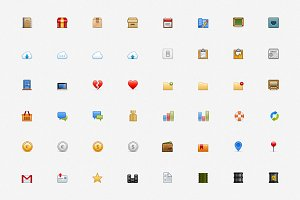 colored set of small marvelous icons