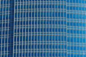 Closeup detail modern glass office b