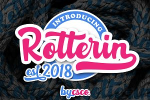 Rotterin Script - Layered Font