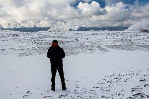 Traveler in North, Iceland