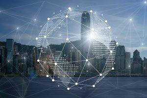 Communication network with digital v