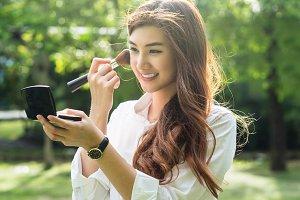 Portrait of beautiful asian young wo