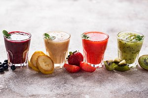 Assortment of various healthy