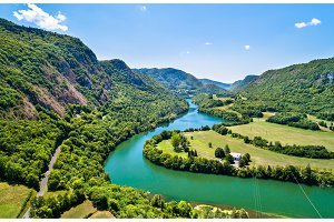 Gorge of the Ain river in France