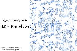 Chinoiserie Watercolour - Seamless