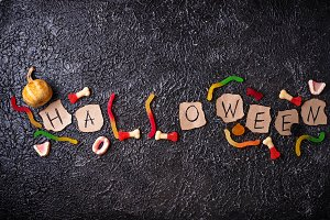 Creative Halloween background with