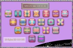 Styles et Papier Seamless Art Nouvea