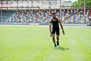African american sport man