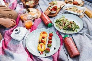 Close up photo of beautiful picnic