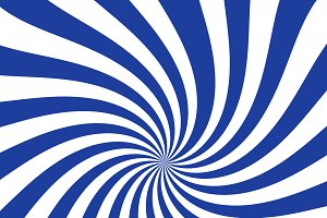White and blue curved stripes ray bu