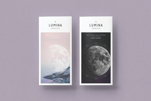 Brochure Templates: 46&2 Collective - LUMINA Trifold Brochure