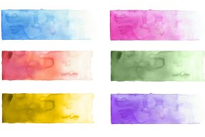 Collection of watercolor background