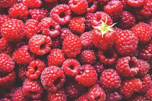 Raspberry berries. Home. Selective f