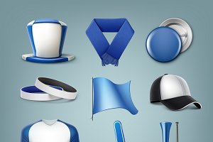 Set of fans accessories