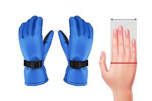 Measuring hand for gloves