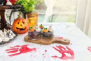 Table Set for the Kids Halloween Din