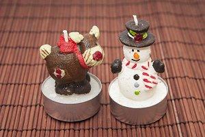 candles snowmen