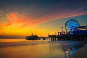 Sunset above Santa Monica Pier