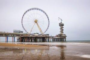 Pier with Ferris Wheel near Hague