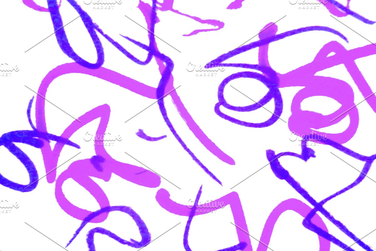 Abstract Colored Curves Shapes