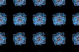 Ethnic Symbols Seamless Pattern
