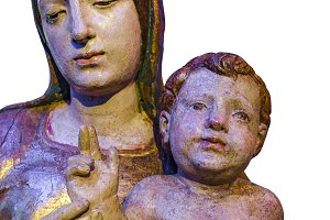 Saint Woman and Baby Sculpture Isola