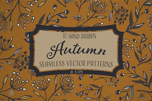 Autumn Seamless Patterns Hand-Drawn