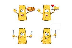 Cheese Cartoon Mascot Character - 1