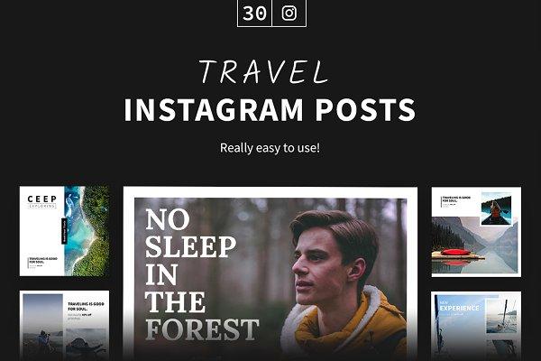 Social Media Templates: Milos Knezevic - Travel Instagram Posts