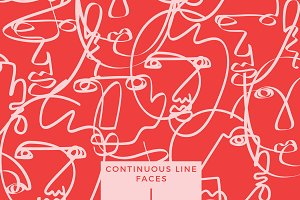 Continuous Line Face Illustrations