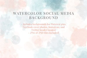 Watercolor Social Media Backgrounds