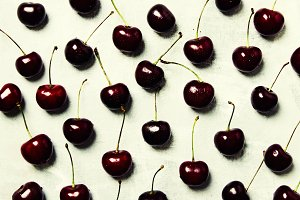 Black cherry, food background, top v