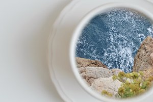 Ocean in a cup of coffee