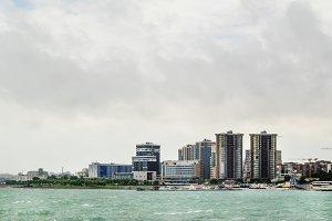Panorama of Novorossiysk, Russia, on