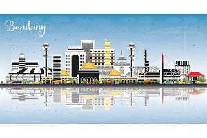 Bandung Indonesia City Skyline