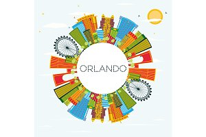 Orlando Florida City Skyline