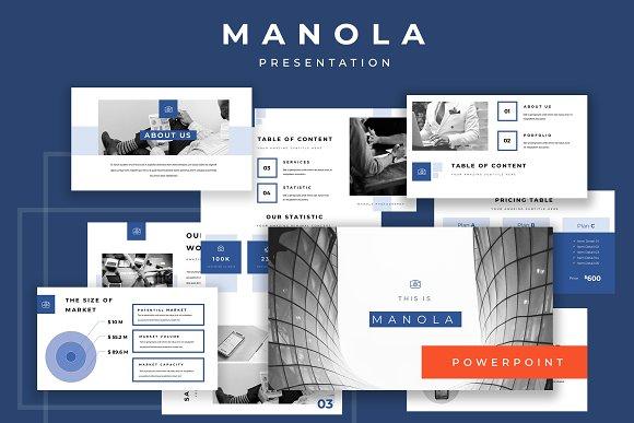 Manola Pitch Deck Powerpoint