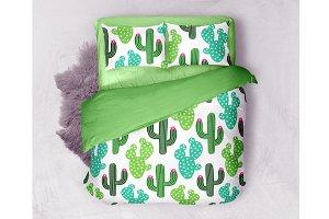 Cute cactus seamless pattern
