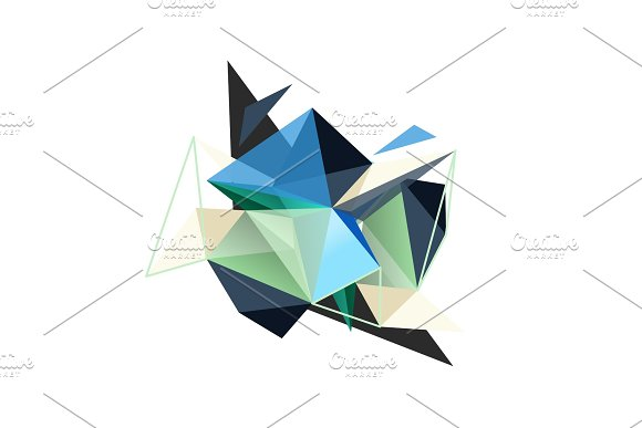 Vector triangle abstract background