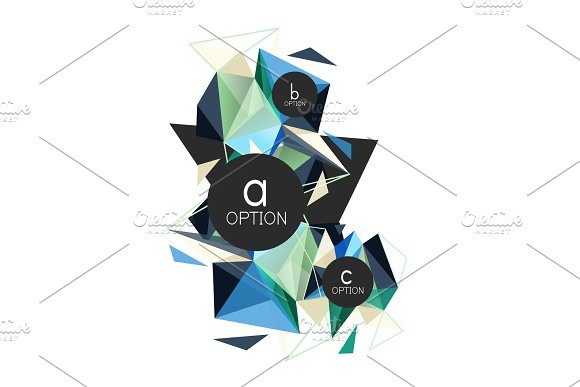 Vector triangle abstract background in Illustrations