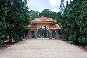 Entrance gate of Truc Lam Temple in