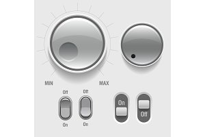 Light Web UI Elements. Buttons