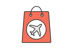 Duty free purchase color icon