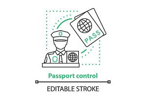 Pass control service concept icon