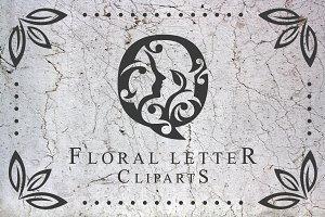 Floral Letter Clip-arts