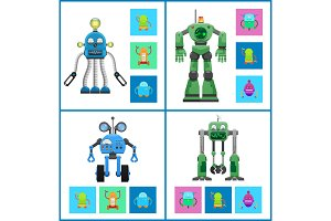 Robots with Light Indicators and