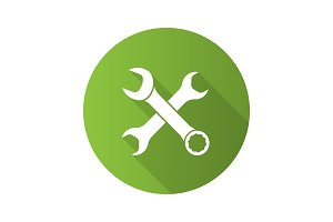Crossed wrenches icon