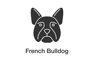 French bulldog glyph icon